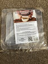 4 Square Reusable Silicone Plastic Wraps New And Sealed Free P&P