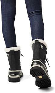 Sorel WOMEN'S Caribou Boots UK Black Stone BNIB Snow Winter Ice