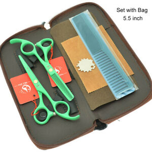 "5.5"" Salon Hairdresser Set Barber Hairdressing Cutting Thinning Scissors Razors"