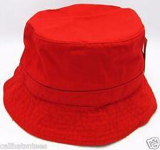 DECKY Bucket Hat Boonie Bush Fishing Summer Cap Adult L/XL 100%Cotton RED NWT
