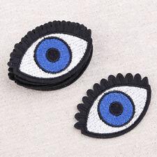 10x Augen Form Aufnäher Aufbügler Patch Applikation Bestickt Chic Nähen DIY