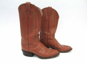 Tony Lama Camel Leather Cowboy Western Boots Men's Size 8 D FREE SHIPPING