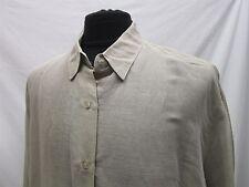 NWT Express Linen blend casual beige shirt size L mens # 1333