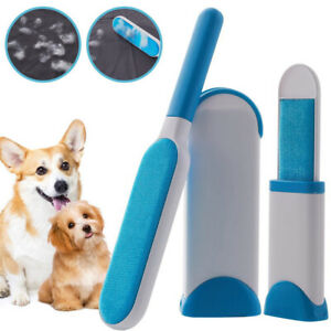 Reusable Furs Pet Hair Lint Brusher Remover Double Side Brush Self-Cleaning Base