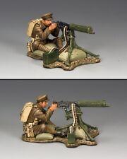 KING & COUNTRY FIRST WAR FW144 WW1 BRITISH SITTING FIRING VICKERS MACHINE GUN