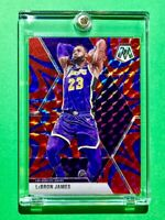 Lebron James RARE BLUE REACTIVE PRIZM MOSAIC REFRACTOR INVESTMENT CARD - Mint!