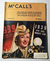 Vintage Back Issue McCall's March 1939 World's Fair Theme