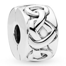 PANDORA Charm Clip Element 798035 Knotted Heart  Silber Bead