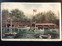 Vintage Postcard>1917>Central Park Boat House>New York City>N.Y.