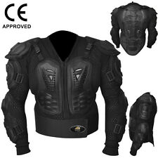 Motocross Motorbike Body Armour Motorcycle Protection Jacket Guard Black, Large