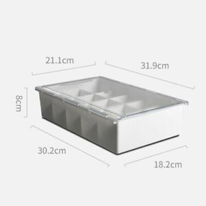 Subdivided Wall Mounted Underwear Drawer With Transparent Cover For Home Storage