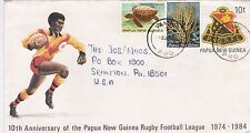DB610) Nice Papua New Guinea Uprated PSE, Rugby football, tortoise, coral
