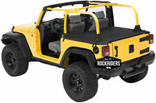 Tonneau Deck Cargo Cover for 2007-2018 Jeep Wrangler JK 2 Door Black Diamond