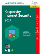 Kaspersky Lab Internet Security 2017 3 Lizenzen Upgrade Antivirus/Internetsicherheit