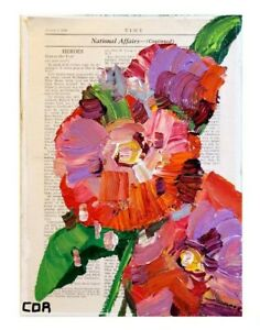 CORBELLIC IMPRESSIONIST VINTAGE TIME MAGAZINE RED BED CONTEMPORARY DECOR ARTWORK