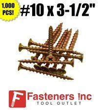 "Intercorp 1031Sy #10 X 3-1/2"" Drywall/Deck Screws Yellow Zinc 1,000 Box"