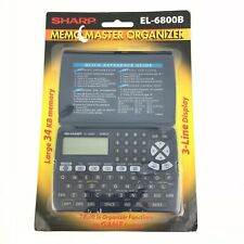 NEW Sharp Electronic Organizer Memo Master EL-6800B Schedule PDA #4825
