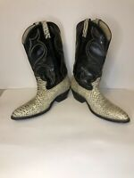 Cowboy Boots Size 10.5 Mens Exotic Snake Skin Leather Western Boots Unbranded