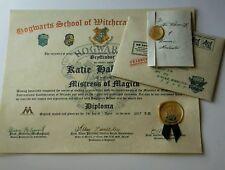 Hogwarts Harry Potter Inspired Diploma Custom
