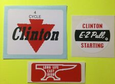 Clinton engine decal set  4 Cycle No Stated hp E-Z Pull Anvil Set 3 Panther