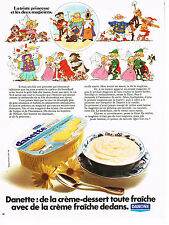 PUBLICITE ADVERTISING 024   1973    DANONE  yaourts desserts  DANETTE