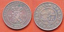 MONETA COIN MONNAIE OLANDA KINGDOM OF NEDERLANDS WILHELM III INDIE ONE CENT 1858