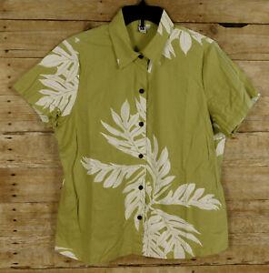 Sig Zane Women's Hawaiian Top Size XL Short Sleeve Floral