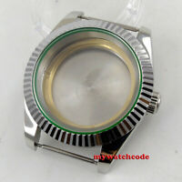 40mm flat sapphire glass automatic Watch Case fit ETA 2824 2836 8215 MOVEMENT