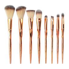 8pcs Handle Metallic Soft Makeup Brushes Kit Set For Eyeshadow Brush Rose Gold