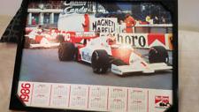 Marlboro issued Niki Lauda 1986 double sided cardboard calendar.