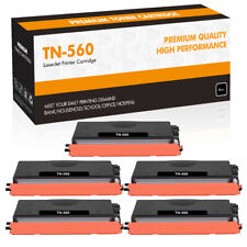 5PK High Yield TN560 Toner Compatible for Brother MFC-8890DW 8680DN DCP-8890DW