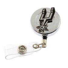 NBA Basketball San Antonio Spurs Sports Retractable Badge Reel ID Card Holder
