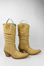 Bottes SIXTYSEVEN Cuir Beige Camel T 36 TBE