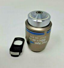 Nikon Microscope Objective Plan Apo 60x Oil Vc With Dic Prism