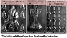 Assorted Praying hand candy mold, Bite size crosses chocolate candy mold- 3 set
