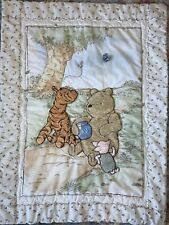 Disney Classic Winnie the Pooh Baby Crib Quilt Comforter Tigger Piglet 3D Furry