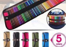 Pencil Case Mate Roll Pouch Makeup Cosmetic Brush Pen Storage Pencil Box School