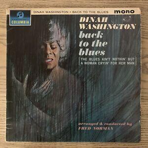 Dinah Washington – Back To The Blues Columbia  33SX 1543 F Original 1963 Release