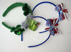 Lot Of 3 Girls Headbands Hair St. Patricks Day Green Sequins & Fourth Of July