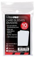 Ultra Pro Trading Card Storage Semi Rigid White Dividers Index Card Pack of 10