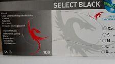 LATEX HANDSCHUHE BLACK 100xSt.ANGERAUHT TATTOO-XL;L,M,S