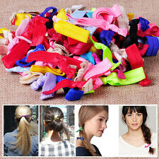 30x Women Elastic Ribbon Hair Ties Knotted Hairband No Crease Ponytail Holder AU