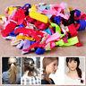 30Pcs Womens Elastic Ribbon Hair Ties Knotted Hairband No Crease Ponytail Holder