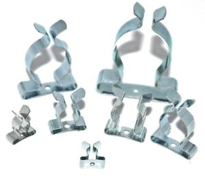 """Spring Tool Clips BZP 1/4"""" 3/8"""" 1/2 """" 5/8"""" 3/4 1"""" 1.1/8 1 .1/2 Tools Wall Holder"""