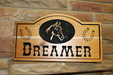 Personalized Wood Horse Stall Name Plaque Custom Sign Cedar Rustic Stable Signs