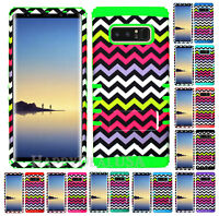For Samsung Galaxy Note 8 - KoolKase Hybrid Silicone Cover Case - Chevron 04