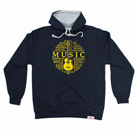 Music Is Life Circle Banned Member HOODIE hoody birthday band guitar gift