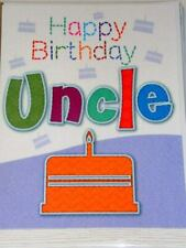 STUNNING Uncle Birthday Cards X 12 Just 27p 'stitches' Textured Wrapped