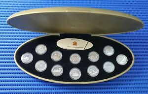 1999 Canada 25 Cents Millennium Sterling Silver Proof Coin ( Lot of 12 Coins )