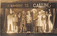 POSTCARD  MILITARY WWII  POW  STALAG XI C  STAGE PRODUCTION OF London is Calling
